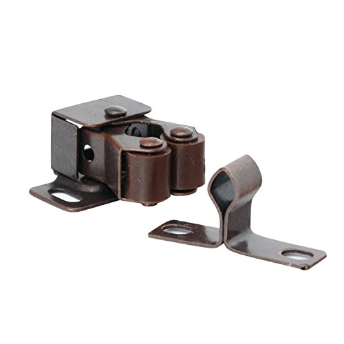 10 Pack Rok Hardware Roller Catch Brown Oil-Rubbed Bronze Copper Finish Heavy Duty Latch for Cabinet Closet Doors ROKRLCS