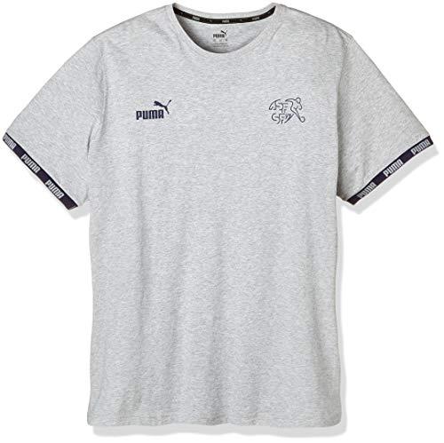 PUMA Herren SFV FtblCulture Tee T-Shirt, Light Gray Heather, M
