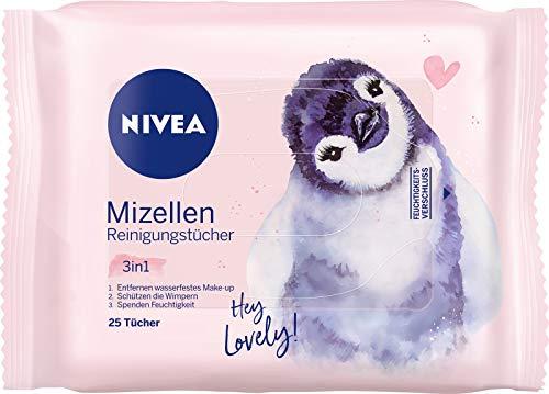 Nivea 3-in-1 Mizellen Reinigungstücher, sanfte und Abschminktücher spenden Feuchtigkeit und Schutz, Limited Edition, 1er Pack (1 x 25 Stück)