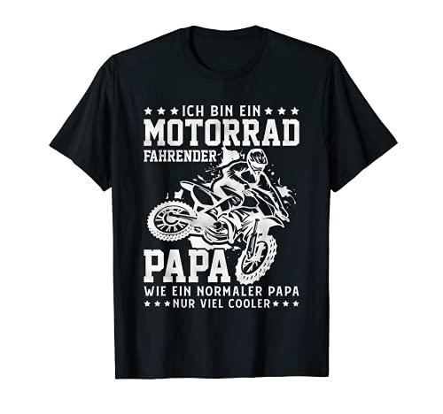 Herren Supercross Papa Spruch Enduro Motorrad Motocross Vater T-Shirt