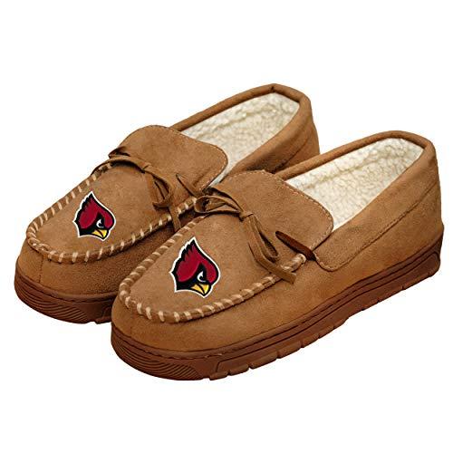 Arizona Cardinals NFL Mens Team Logo Moccasin Slippers - M