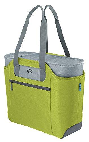 alfi Thermo-Kühltasche, isoBag mittel 23 Liter - Isolierte Einkaufstasche aus Polyester, grün 57 x 38 x 50 cm - 2in1, Isoliertasche inkl. extra Tragetasche - 0007.278.812