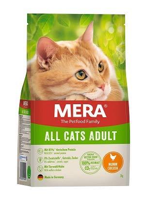 MERA Cats All Cats Huhn - Trockenfutter für ausgewachsene Katzen - getreidefrei & nachhaltig - Katzentrockenfutter mit hohem Fleischanteil - 2 kg