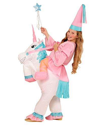 Horror-Shop Traje Inflable Unicornio para Las niñas One Size