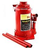 XtremepowerUS 32-Ton Hydraulic Bottle Jack Low Profile Automotive Shop Lift Truck Bus Car RV Auto, Red