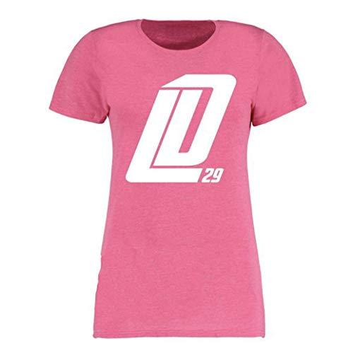 Scallywag® Eishockey T-Shirt Frauen Leon Draisaitl Pink I Größen XS - XXL I A BRAYCE® Collaboration (Eishockey für Frauen mit NHL Superstar LD29) (L)