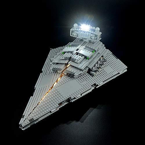 LIGHTAILING Set di Luci per (Star Wars Imperial Star Destroyer) Modello da Costruire - Kit Luce LED Compatibile con Lego 75055 (Non Incluso nel Modello)