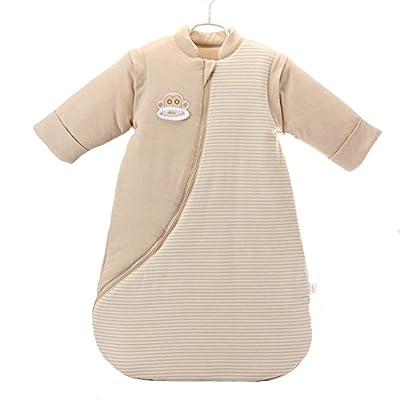 Manta Saco de dormir, dormir, saco de dormir algodón suave desmontable Manga Larga