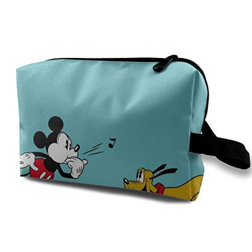 Mickey Minnie silbatos bolsa de cosméticos para mujeres gran capacidad maquillaje bolsas de viaje neceser accesorios organizador