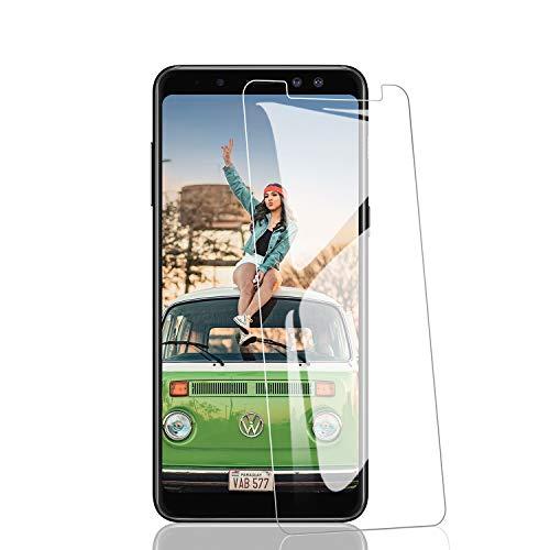 RIIMUHIR [3 Pezzi Vetro Temperato Compatibile con Samsung Galaxy A8 2018, Pellicola Protettiva Protezione Schermo per Samsung A8 2018, ad Alta Definizione, Senza Bolle, Anti-Impronte