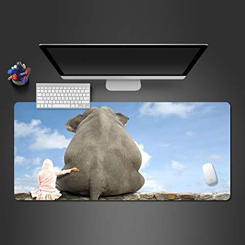 HonGHUAHUI grappig olifanten-muiskussen en muismat kussen voor spelers, hoge kwaliteit, gamingpad, bureau-computer, toetsenbord 900 x 300 x 2 mm