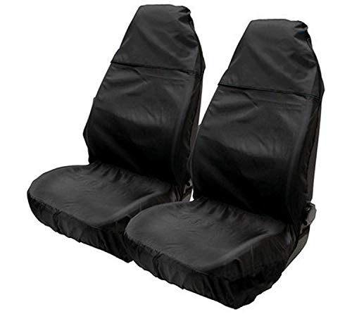 ASC-Protector de asiento de nailon Resistente al agua, color negro