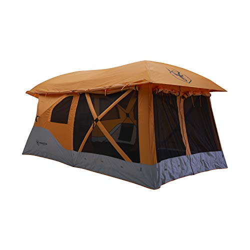 "Gazelle T4 Plus GT450SS Pop-Up Portable Camping Hub Tent, Easy Instant Set up in 90 Seconds, Sunset Orange, 8-Person, Family, Overlanding, 94"" x 168"""