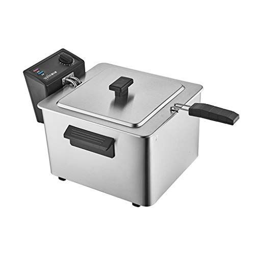 XLOO Electric Deep Fryer,The Capacity Is 8 Liters,The Power Is 2000W, Automatic Power-off,With Stainless Steel Frying Basket,Detachable,Easy to Clean,Insulated Handle,Suitable for Home Kitchens
