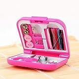 FANPING Mini portátil de Costura Set de Costura con una Caja de almacenaje Transparente y Accesorios de Costura 20, for el hogar, Viajes & Emergencia Lleno (2 Piezas) (Color : Pink)