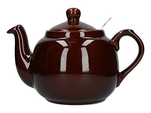London Pottery Teekanne mit Filter, für 2 Tassen, Grün, Keramik, Rockingham Brown, 4 Cup