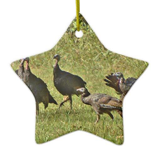 Wild Turkey Camouflage Colors Ceramic Ornament