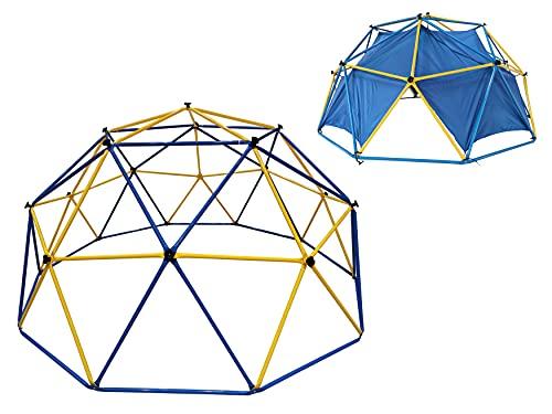 Klettergerüst Dome Climber Outdoor Kinder Klettergestell Ø 305 cm Metall mit Kuppel-Zelt