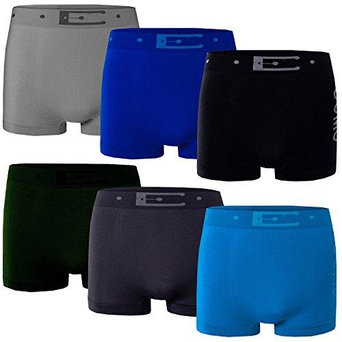 Bongual 6-x Herren Basics Unterhose Retroshorts Microfaser Belt Print XS/3 6xUnicolor