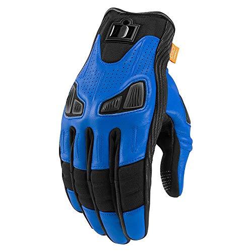 Icon Automag2 Motorrad Handschuhe kurz blau schwarz Gr��e: L