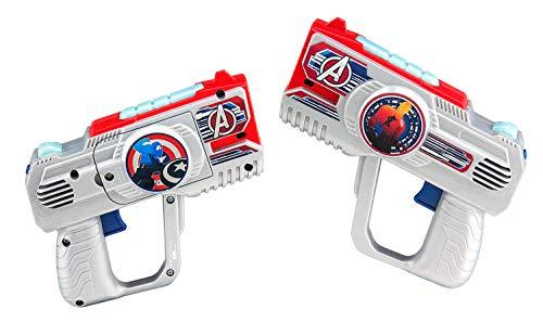 eKids Avengers Assemble Laser Tag for Kids Infared Lazer Tag Blasters Lights Up & Vibrates When Hit