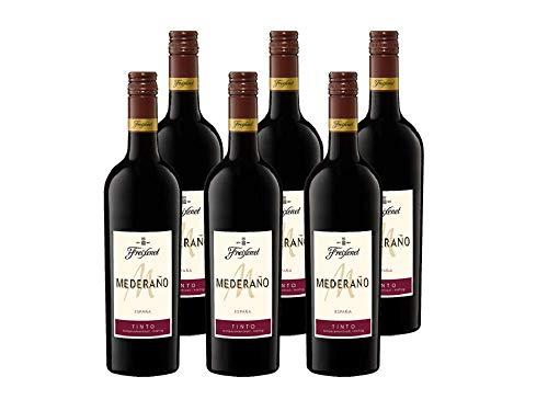 Freixenet Mederaño Tinto Wein, Halbtrocken, 13% Alkohol (6 x 0,75 l Flaschen) – Feinster Wein aus Spanien