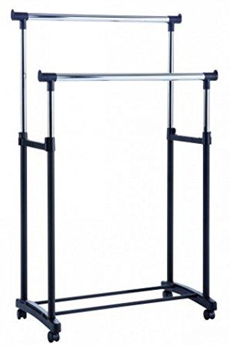PEGANE Portant pour vêtements Double Coloris Noir, 90 x 79,5 x 43 cm