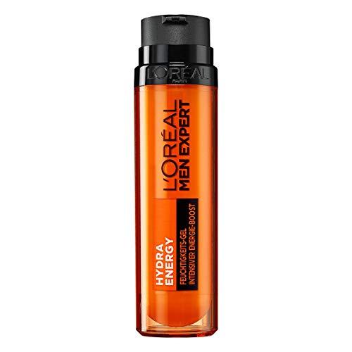 L'Oréal Paris Men Expert Feuchtigkeits-Gel für das Gesicht, Porenverfeinernde Gesichtspflege für Männer, Feuchtigkeitspflege mit Kreatin, Hydra Energy, 1 x 50 ml