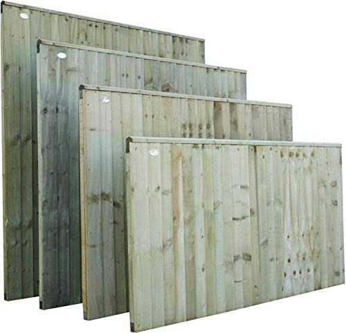 Premier Fully Framed Feather Edge/Closeboard Fence Panel Available in 4 Sizes (183cm Wide x 30cm Tall, Pressure Treated (tanalised))