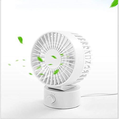 JZBB Bureauventilator Geruisloze USB-ventilator Koelventilator met verstelbare kop, dubbele ventilatorbladen, 2 snelheden, Mini-formaat desktopventilator voor thuiskantoor Buiten reizen
