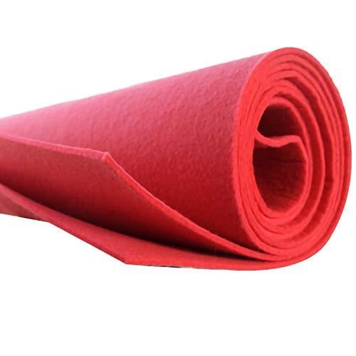 QDTD Tela de Fieltro Tela de Fieltro 1m de Ancho Telas Manualidades para Patchwork Costura DIY Artesanías de Bricolaje Manualidades 1m Vendido por Metro(Color:Melon Rojo)