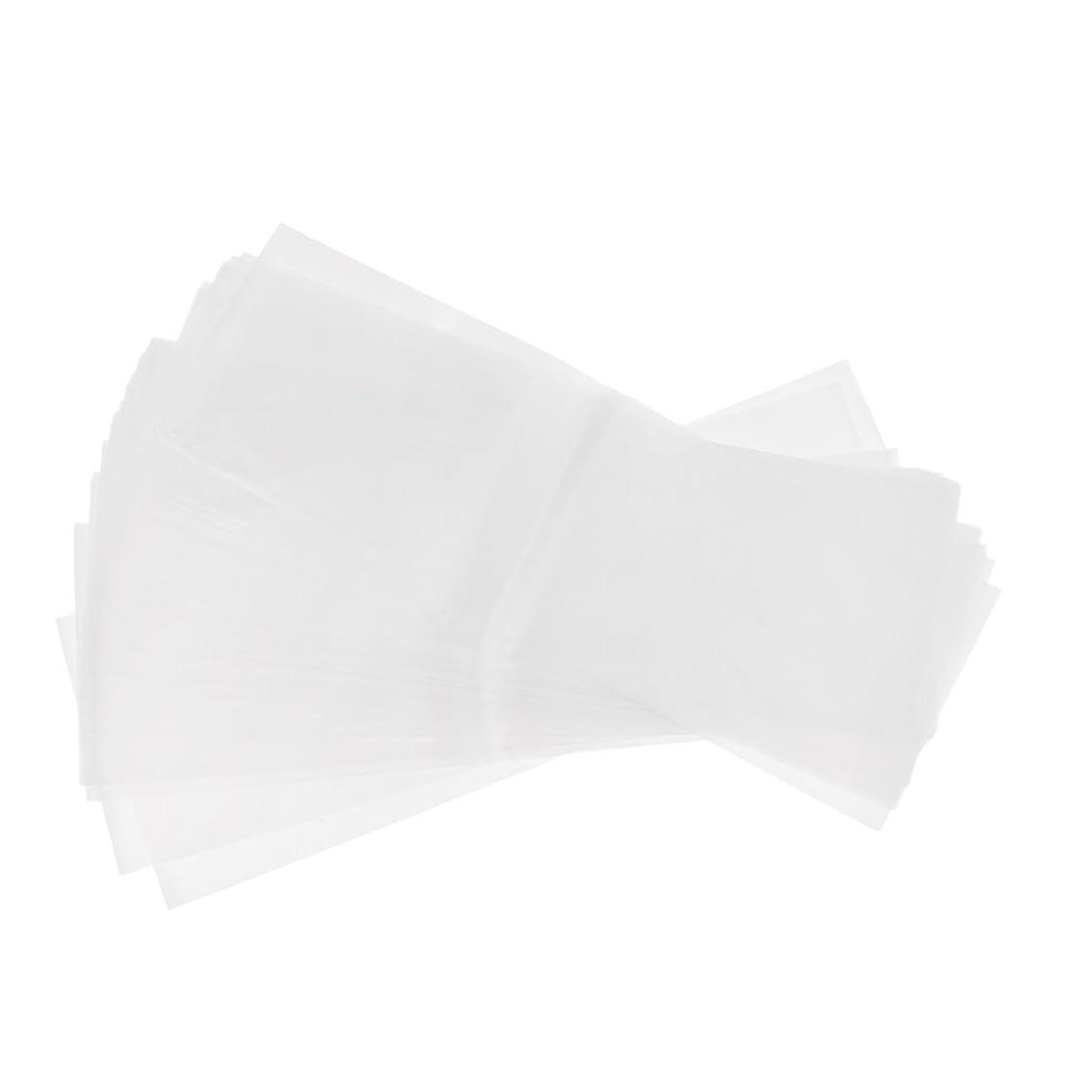 こしょうワット蓄積するPerfk 約50枚 プラスチック製 染毛紙 ハイライトシート サロン ヘア染めツール 再利用可能  髪染め 2タイプ選べ - ホワイト