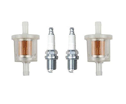 OxoxO Brandstoffilter met Spark Plug Vervang voor Briggs & Stratton 493629 691035 Kawasaki 49019-7001 grasmaaier Tractor