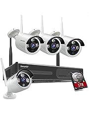 Sistema di videosorveglianza domestica senza fili del sistema della videocamera di sorveglianza kit, con visione notturna,1080p 8CH NVR con HDD da 1 TB adatto per casa/ufficio