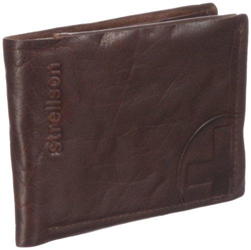 Strellson Edwyn BillFold H6 4010000219 Herren Geldbörsen 12x10x1 cm (B x H x T), Braun (cognac 703)