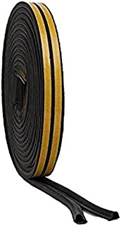 Stick&Seal[R) P Shaped, Self-Adhesive EPDM Doors and Windows Seal Strip Soundproofing Collision Avoidance Rubber Weather-s...