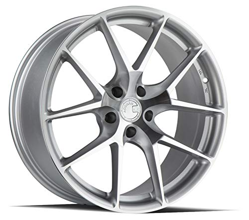 AodHan Dual Phase Forged AFF7: 19x8.5 Wheel, 5x120 Bolt pattern, 72.6mm Hub Bore, 35mm Offset - Gloss Silver Machined Face