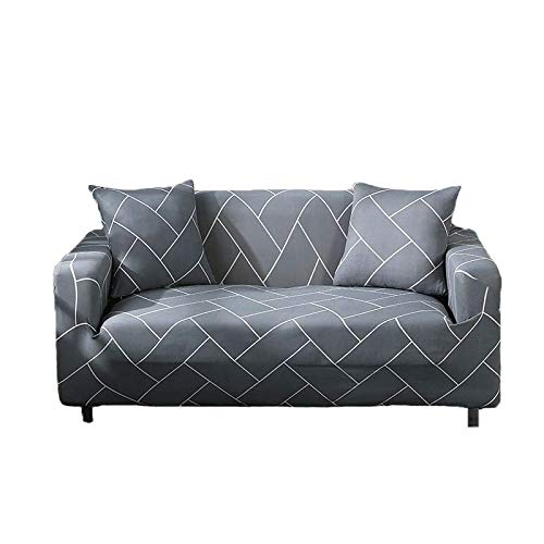 ASCV Blätter Muster Sofabezug Schonbezüge Elastische All-Inclusive-Couch-Hülle für L-Form Sofa Liebessitz A22 1-Sitzer