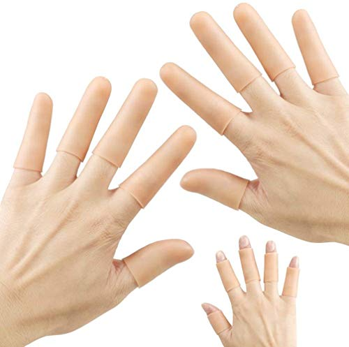 Finger Cot Gel Finger Protector Finger Brace Support Finger Gloves Waterproof Finger Eczema Bandages for Trigger Finger Hand Eczema Finger Cracking Finger Arthritis