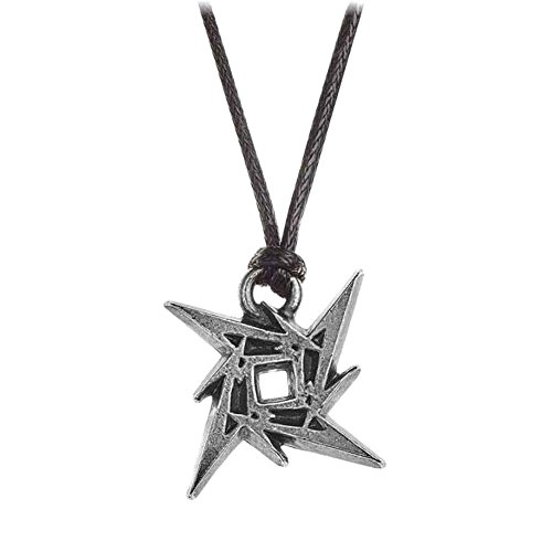 Colgante Alchemy Rocks Metallica Ninja Star (Negro/Plateado)
