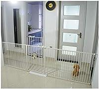 ベビーゲート フェンス ドア付き 金属アジャスタブル赤ちゃんペットの安全ゲート階段ゲート自動近い圧力では、マウント拡張は、背の高い78センチメートル幅が304センチメートルに85から選択することができるスタンド (Color : Gray H78cm Width, Size : 95-104cm)