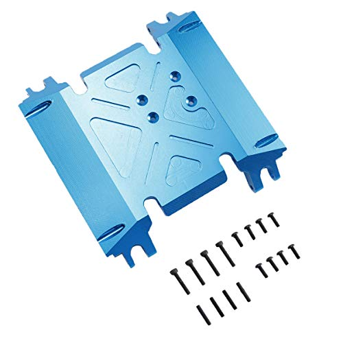 RZXYL Aluminum Center Skid Transmission Plate for 1/10 Axial Wraith 90018 RC Model Crawler Car (Blue)