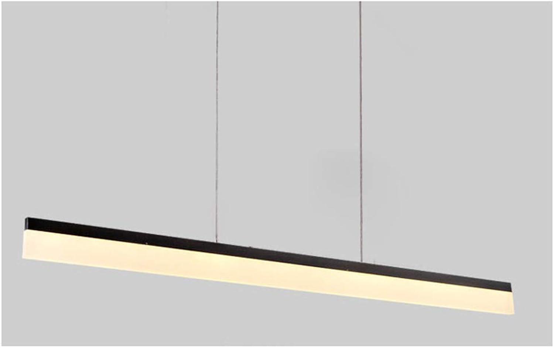 Xiao Fan  LED-Pendelleuchte, Nicht dimmbar, passender linearer Langer Streifen für Büro, hngende justierbare einfache MeGrößecrylleuchter-Deckenleuchte-Küchenflur 80cm, 4000K