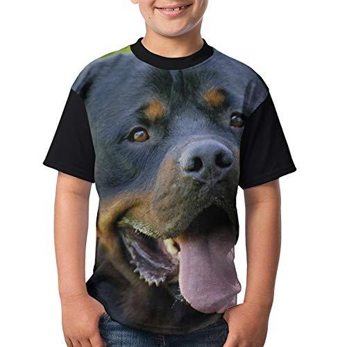 Camiseta clásica Rottweiler Dog Children's Teenagers Camiseta Divertida