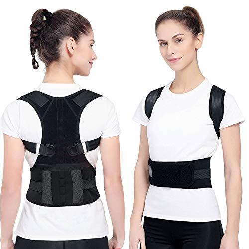 Magnetische Geradehalter zur Haltungskorrektur, Einstellbare Magnetische Schulterstütze Brace Schulter Rückenstütze Gürtel Rückenbandage Haltungstrainer Haltungskorrektur Rücken für Damen und Herren