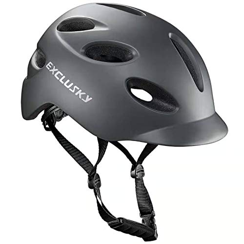 Exclusky Adult Bike Helmet with USB Rechargeable Rear Light for Urban Commuter CPSC Certified