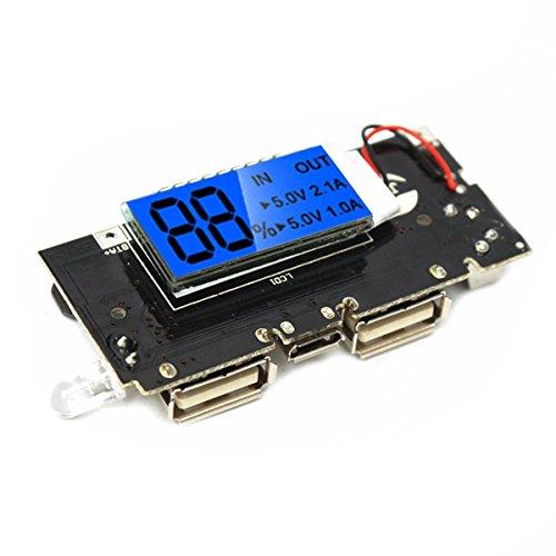 U - 5 stuks Dual USB 5 V 1 A 2,1 A mobiele powerbank 18650 acculader PCB Board module