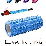 Massagerolle Pilatesrolle+Faszienrolle mit Griff 2-Teiliges Set
