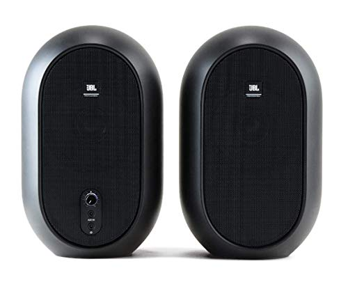 JBL Professional 1 Series, 104 Compact Powered Desktop Reference Monitors (sold as pair), Black (JBL104)