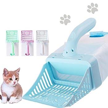 Qiekenao Kit de nettoyage de la litière pour chat Pelle pour chat